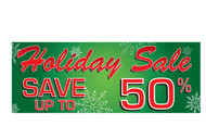Holiday Sale Save Up To Banner sign Style 1800