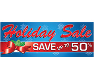 Holiday Sale Banners - Vinyl Signs Style 2000
