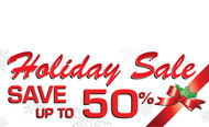 Holiday Sale Banners - Vinyl Signs Style 2300