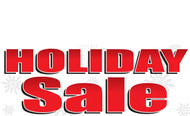 Bold Red Holiday Sale Banner Sign Style 2400