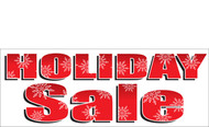 Bold Red Holiday Sale Banner with Snowflake Detail Style 2500
