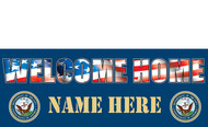 Welcome Home Banners - Signs Style 1700