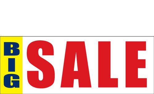Big Sale Sign Banner Style 3300