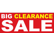 Big Clearance Banner Sign 2500