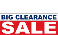 Big Clearance Banner Sign 2600