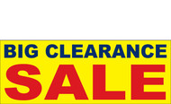 Big Clearance Banner Sign 2800