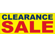 Clearance Banner Sign 2900