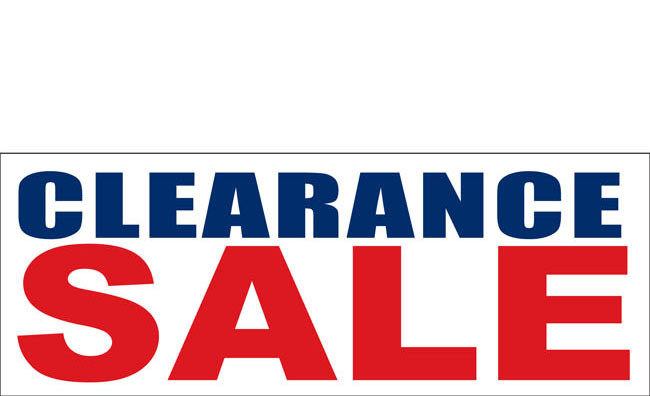 Clearance Banner Sign Design ID #3000 | DPSBanners.com