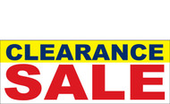 Clearance Banner Sign 3100