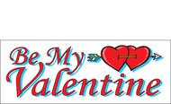 Happy Valentine's Day Banners Sign Vinyl 1000