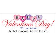 Happy Valentine's Day Banners Sign Vinyl 1100