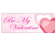 Happy Valentine's Day Banners Sign Vinyl 1400