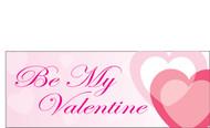 Happy Valentine's Day Banners Sign Vinyl 1400