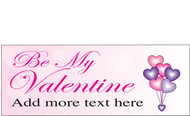 Happy Valentine's Day Banners Sign Vinyl 1500