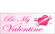 Happy Valentine's Day Banners Sign Vinyl 1600