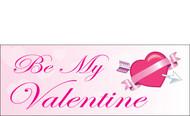 Happy Valentine's Day Banners Sign Vinyl 1600