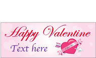 Happy Valentine's Day Banners Sign Vinyl 1700