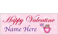 Happy Valentine's Day Banners Sign Vinyl 1800