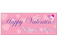 Happy Valentine's Day Banners Sign Vinyl 1900