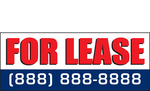 For Lease Banners Signs Style 1100