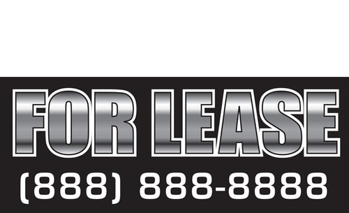 For Lease Banners Signs Style 1200