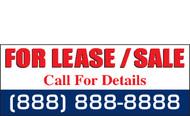 For Lease or Sale Vinyl Banner Sign Design, Red-White-Blue