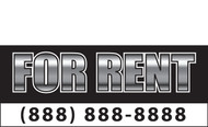 For Rent Banner Sign Style 1200