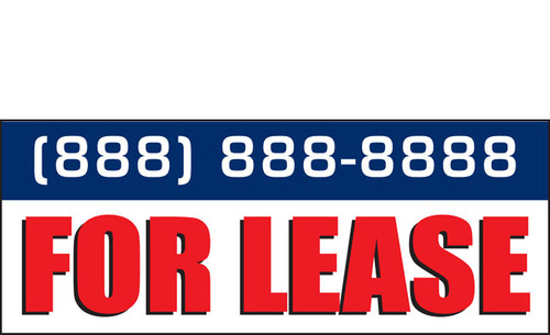 For Lease Banner Sign Style 2400 (Add Phone number)