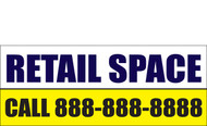 Retail Space Banners Signs 1100