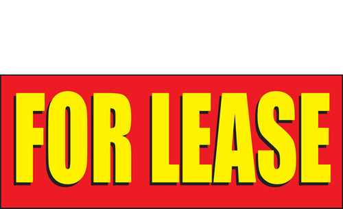 For Lease Banner Sign Style 2200