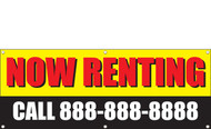 Now Renting Banner Sign, Add Phone Number