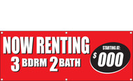 Now Renting Banner 3 bedroom 2 batch Style 1600