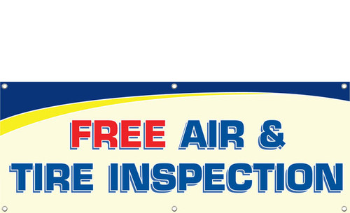 Free Air & Tire Inspection Banner Sign Style 1000