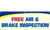 Free Air & Brake Inspection Banner Sign Style 1100