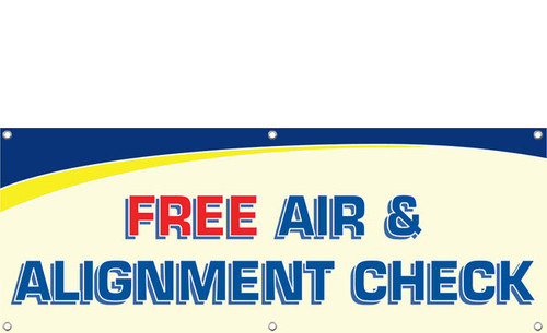 Free Air & Alignment Check Banner Style 1200