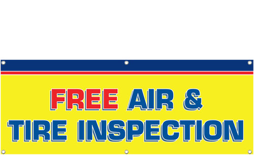Free Air & Tire Inspection Banner Style 1300