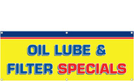 Oil Lube & Filter Specials Banner Sign Style 1400