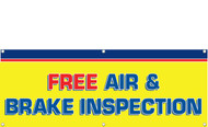 Free Air and Brake Inspection Banner Sign