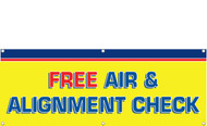 FREE AIR AND ALIGNMENT CHECK BANNER SIGN STYLE 1600
