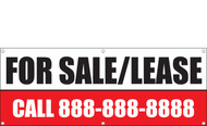 For Sale or Lease Banner, Phone Number