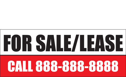 For Sale or Lease Banners Style 1000
