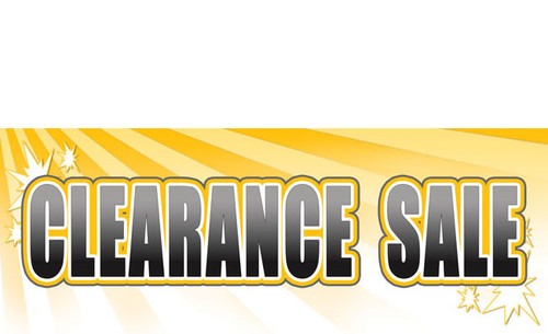 Clearance Sale Banner Sign Style 3200