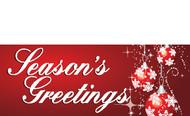 Seasons Greetings Banners - Signs Style 3200