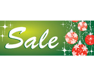 Green Ornament Sale Holiday Season Advertising Sign Banner style 3600