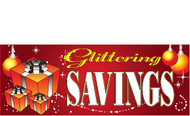 Glittering Savings Holiday Sale Advertising Banner Style 4100