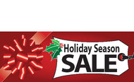 Holiday Season Sale Banner Sign Style 4400