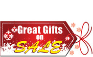 Great Gifts On Sale Holiday Season Advertising Banner Sign Style 4500