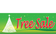 Green Christmas Tree Sale Banner Style 4800