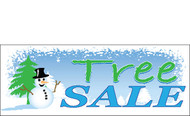 Snowman Themed Christmas Tree Sale Banner Style 4900