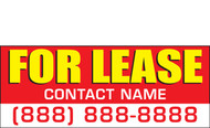 For Lease Banner Sign Style 2600